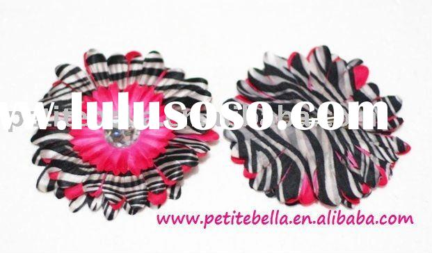 Zebra Print Crystal Daisy for Pettiskirt Hair Clip,Kid Clip,Children Clip,Accessory,Gift for Pettisk