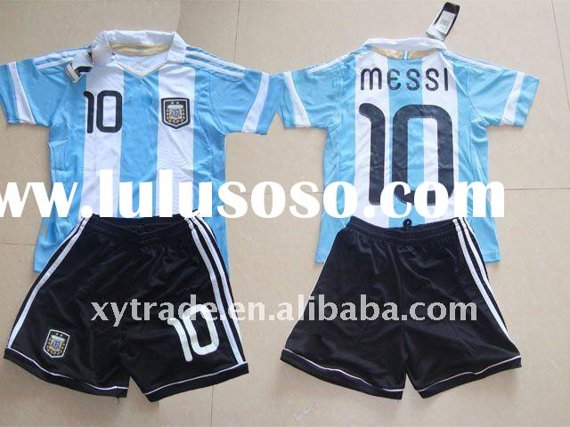 #10 Messi argentina home youth kids soccer jersey shirt