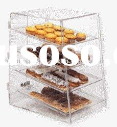 acrylic cake showcase, acrylic bread holder, acrylic pie exhibitor, acrylic cookies display box