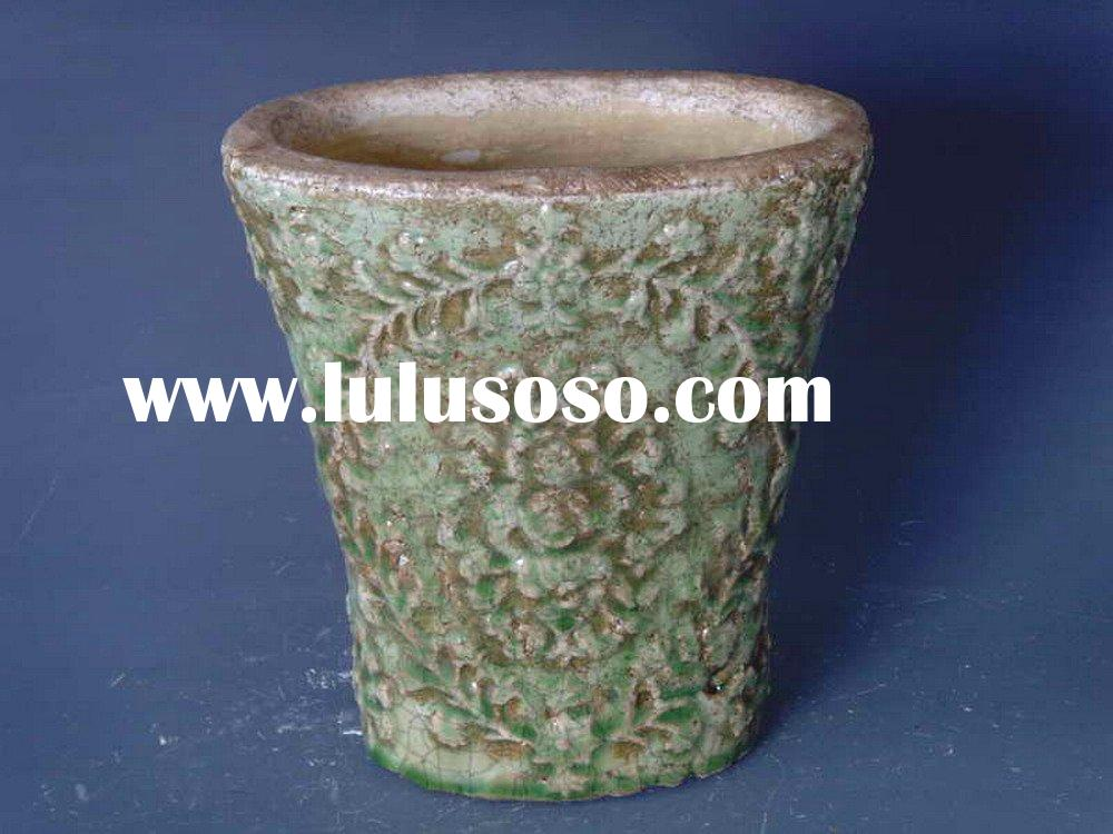 antique flower pots planters in terracotta