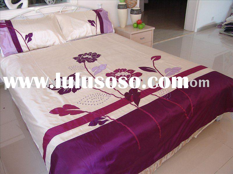 applique+embroidery duvet cover set