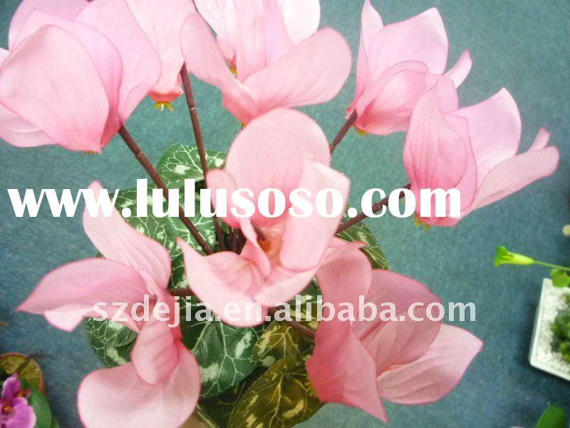 artificial flowers,Artificial potted cyclamen flower ,party decoration,Artificial potted flower