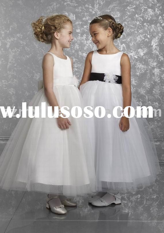 beautiful flower girl dress/girl gown/kids dress promotion for international children's dayF
