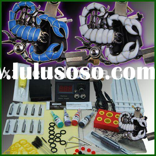 beginner tattoo kit 2 scorpion tattoo gun power supply