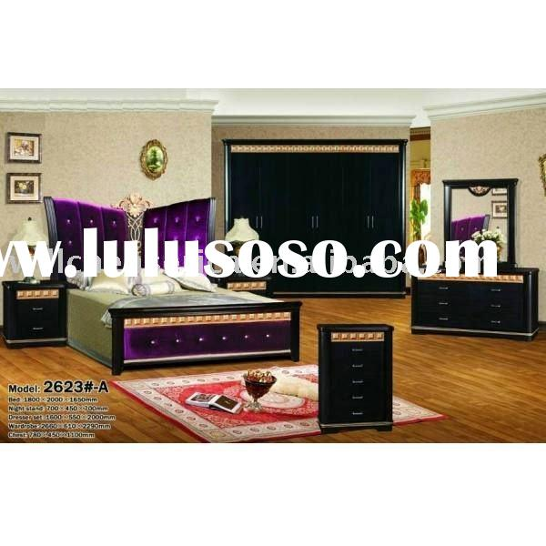 black modern luxury bedroom furniture set