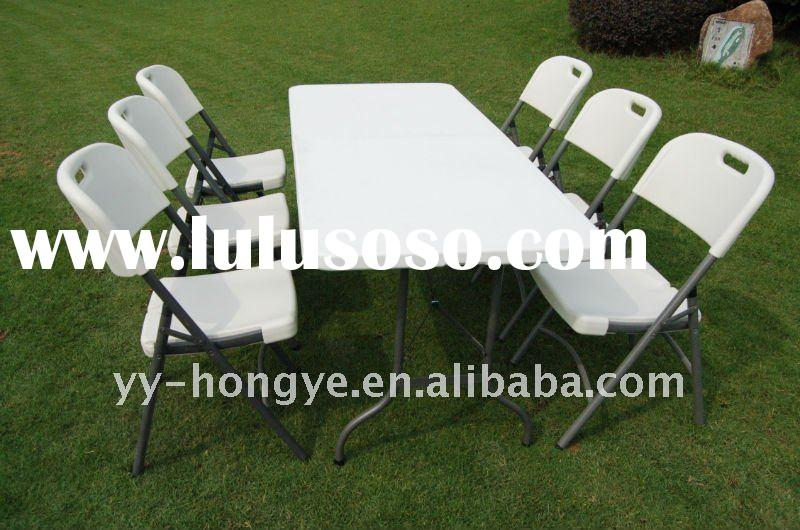 blow mould folding plastic table and chair set, garden funiture set,outdoor furniture,