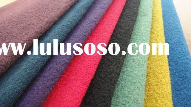 boiled wool fabric with single yarn,rich color