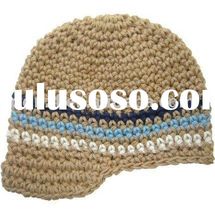 boy beanie for infant/toddler/crochet hat/cotton hat/baby hat