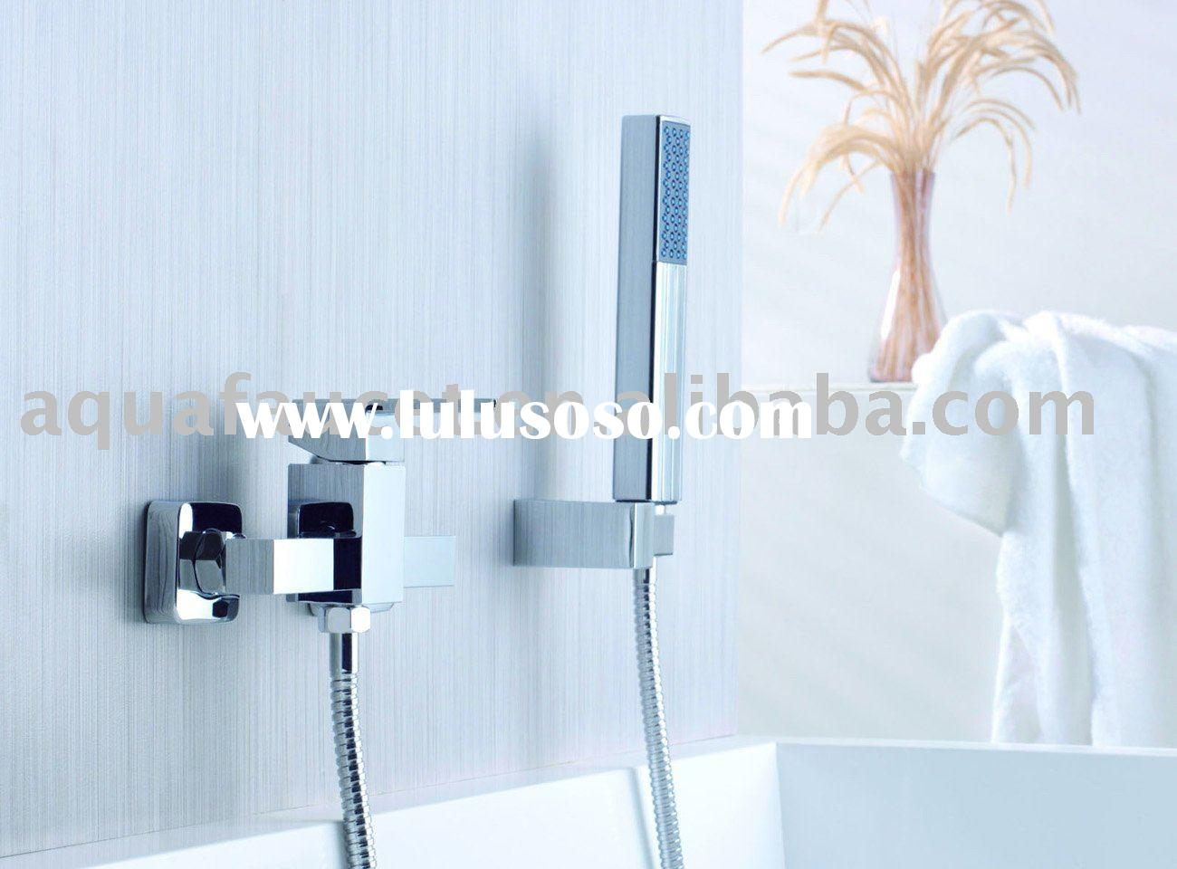 brass bathroom single lever exposed shower faucet