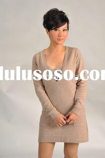cashmere sweater of ladies' dress
