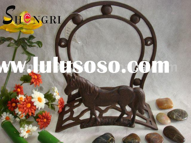 cast iron horse hose holder garden decoration