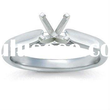 cathedral Solitaire diamond ring settings without stones