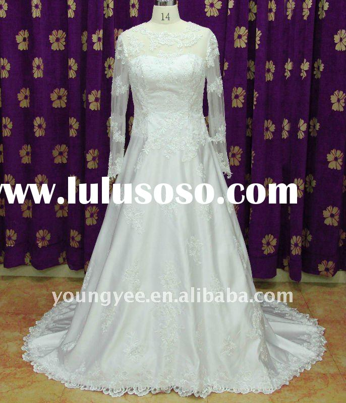 charm lace long sleeve 2011 the most popular wedding dresses