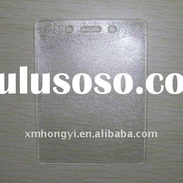 clear soft PVC card holder,plastic ID card holder