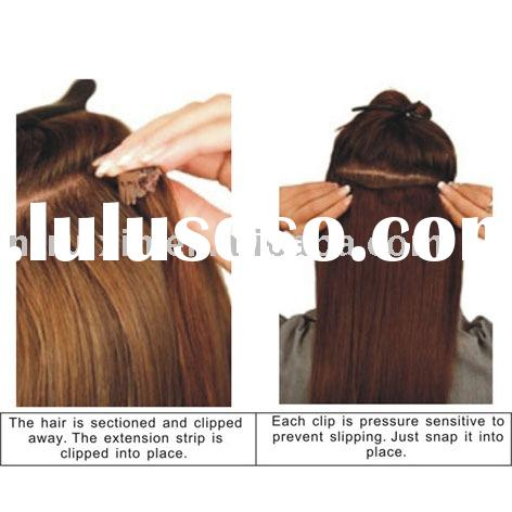 clip on human hair extension /clip in human hair/clip hair /clip hair extension/clip on /in human ha