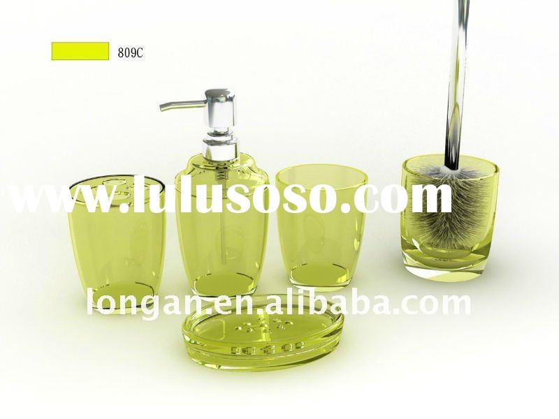 colorful green bathroom accessories set