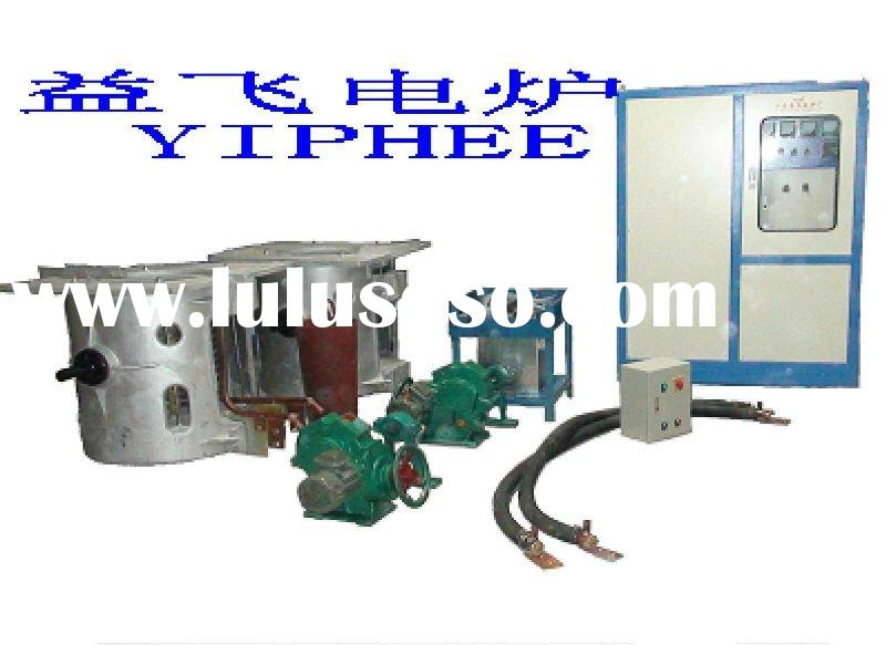 copper/iron/steel/aluminium scrap induction crucible melting furnace