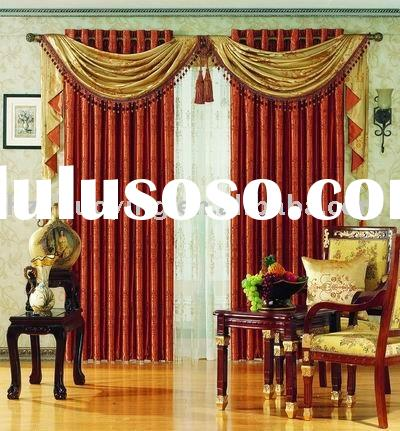 curtain fabric/polyester fabric/luxury curtain