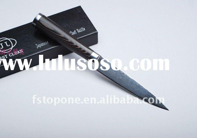 damascus knife blade from Japan