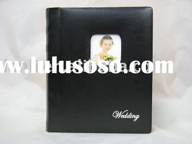 digital photo album with pu leather cover wedding style