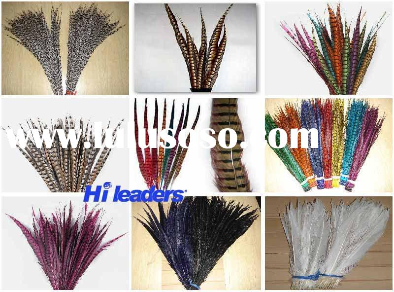 dyed pheasant tail feather