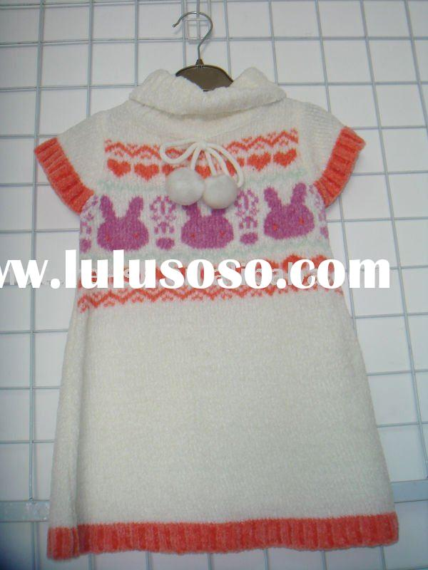 fashion dress design kids sweater for spring/autumn