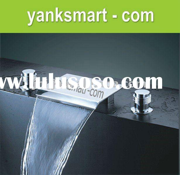3 hole waterfall bathroom faucet, 3 hole waterfall bathroom faucet ...