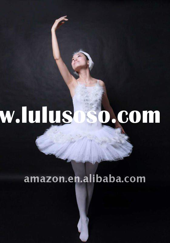 feathers classical adult's white ballet tutu/dance wear/stage costumes/party dresses