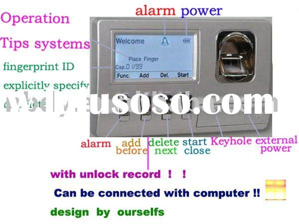 fingerprint lock,with unlock record,connectable to computer