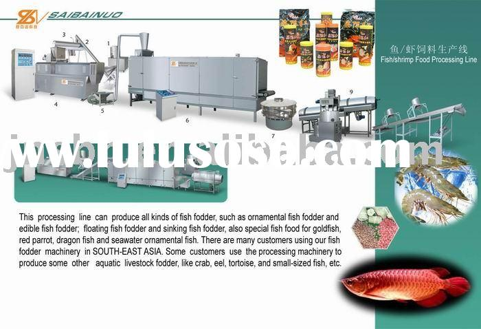 fish food processing machine/ floating fish food machine/ fish feed pelleting machine