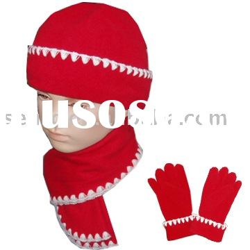 fleece hat,gloves,scarf,fleece sets,fleece winter sets, polar fleece sets,kids hat,kids gloves,kids