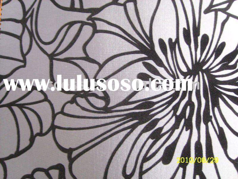 flocking fabric wall covering