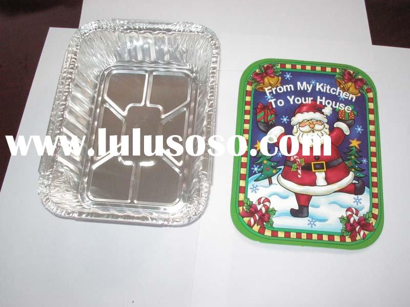 foil container with color cardboard lid