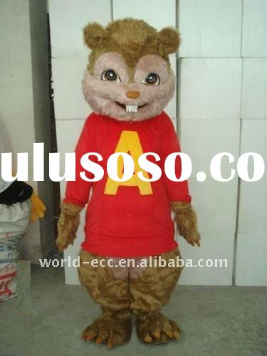fur red chipmunk mascot costume, cartoon costume, fancy dress costume
