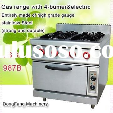 gas ovens built in gas range with 4-bumer with electric oven