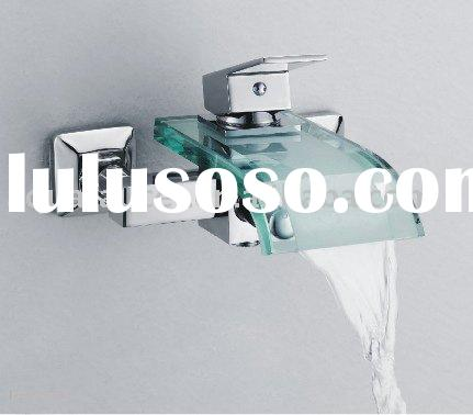 glass waterfall exposed bath shower faucet,mixer tap