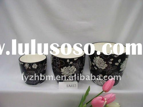 glazed ceramic flower pots 2011 new design