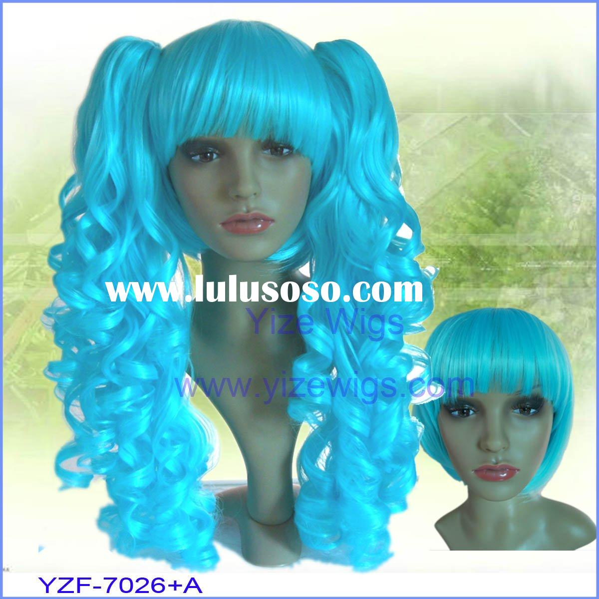 hair product Cosplay wig with clip on pony tails YZF-7026