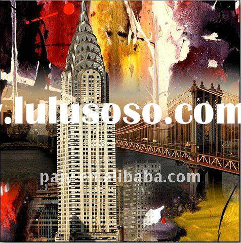 hand-painted new york oil paintings on canvas