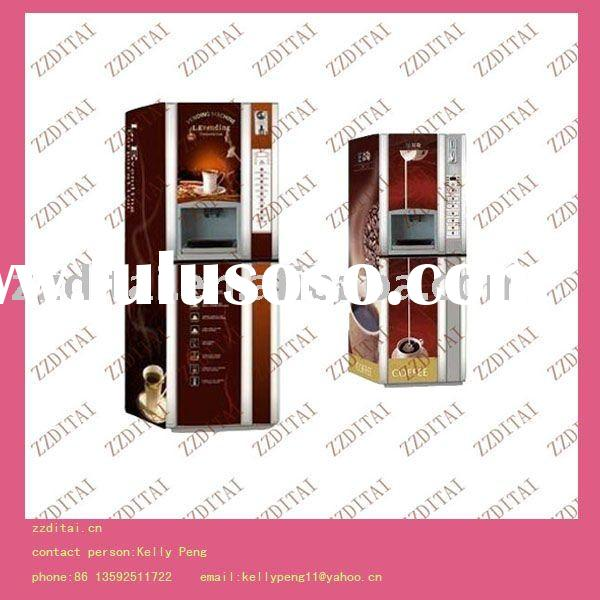 hot sale coin operated coffee vending machine(use powder material)