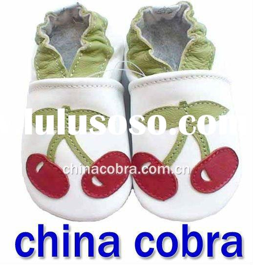 hotsale soft sole baby leather shoes