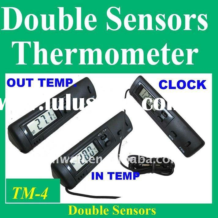 indoor outdoor bimetal thermometer digital LCD display