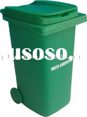 junk feng,Green pen container,Plastic bins,Trash can,small plastic trash can