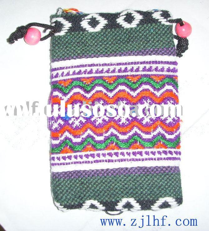knitted flower pattern mobile case