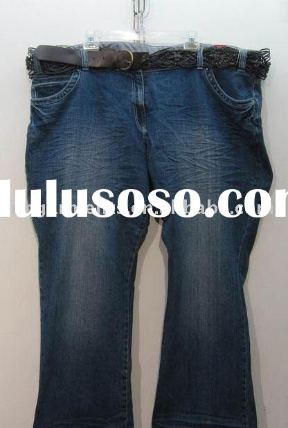 lady fashion plus size denim jeans/pants