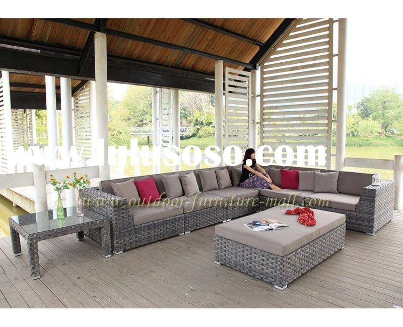 lastest design Garden furniture Imitate flower sofa Round rattan sofa 3-piece