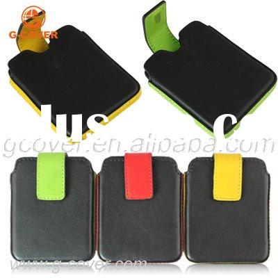 leather case for ipod Nano 6, leather pouch for ipod Nano 6