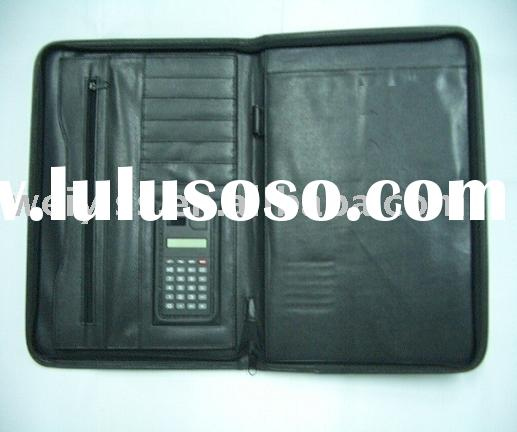 leather organizer/men`s business bag/business folder/leather portfolio bag