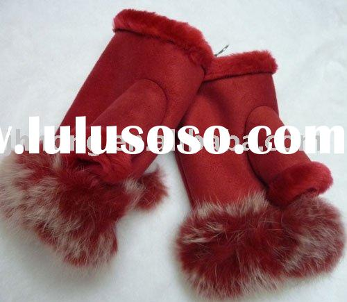 Amazon.com: rabbit fur lined gloves - Clothing & Accessories