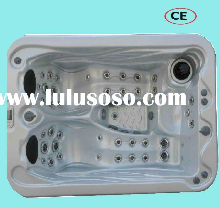 led lighting 37 jets 3 seater portable whirlpool for wholesale and retail